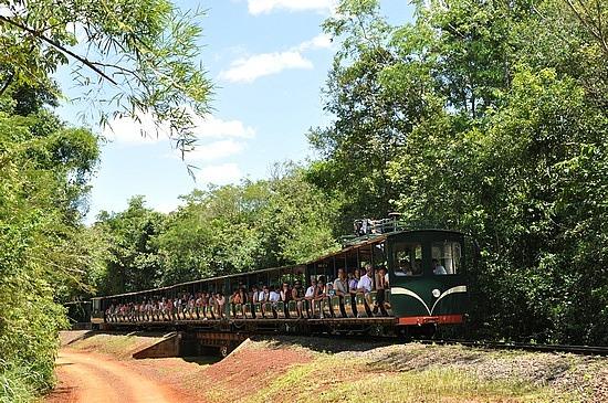 Jungle train in the Iguazu Falls