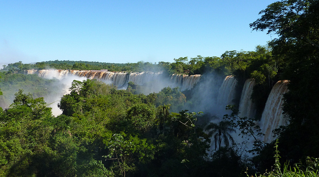 Superior walk of the Iguazu Falls